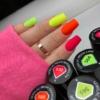 Kép 3/6 - 569 Semilac Uv Hybrid gél lakk Neon Orange 7ml