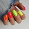 Kép 4/6 - 569 Semilac Uv Hybrid gél lakk Neon Orange 7ml