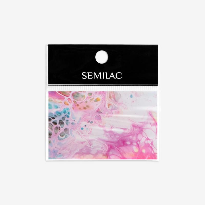 08 Semilac Transzfer fólia - Rainbow Marble