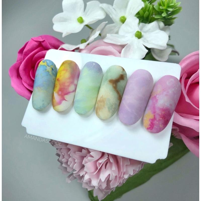 09 Semilac Transzfer fólia - Pink & Blue Marble