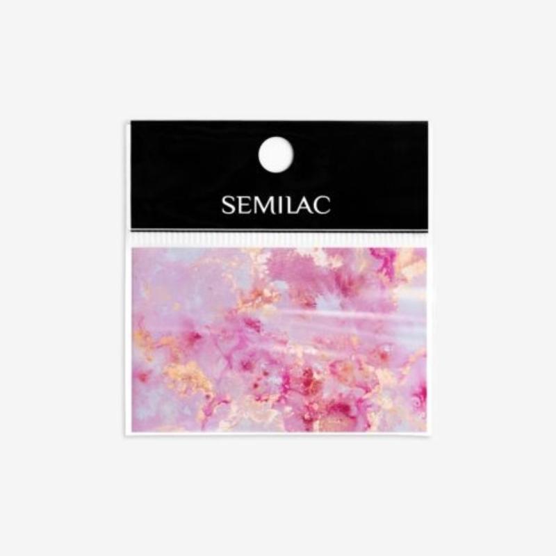 12 Semilac Transzfer fólia - Rose Gold Marble