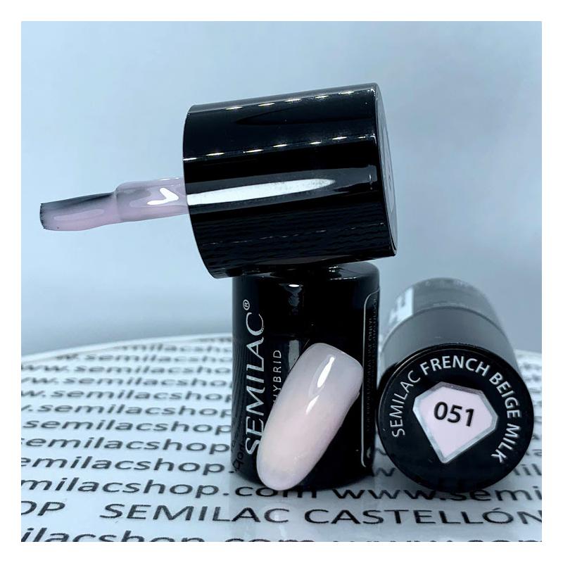 051 Semilac Uv Hybrid gél lakk French Beige Milk 7ml