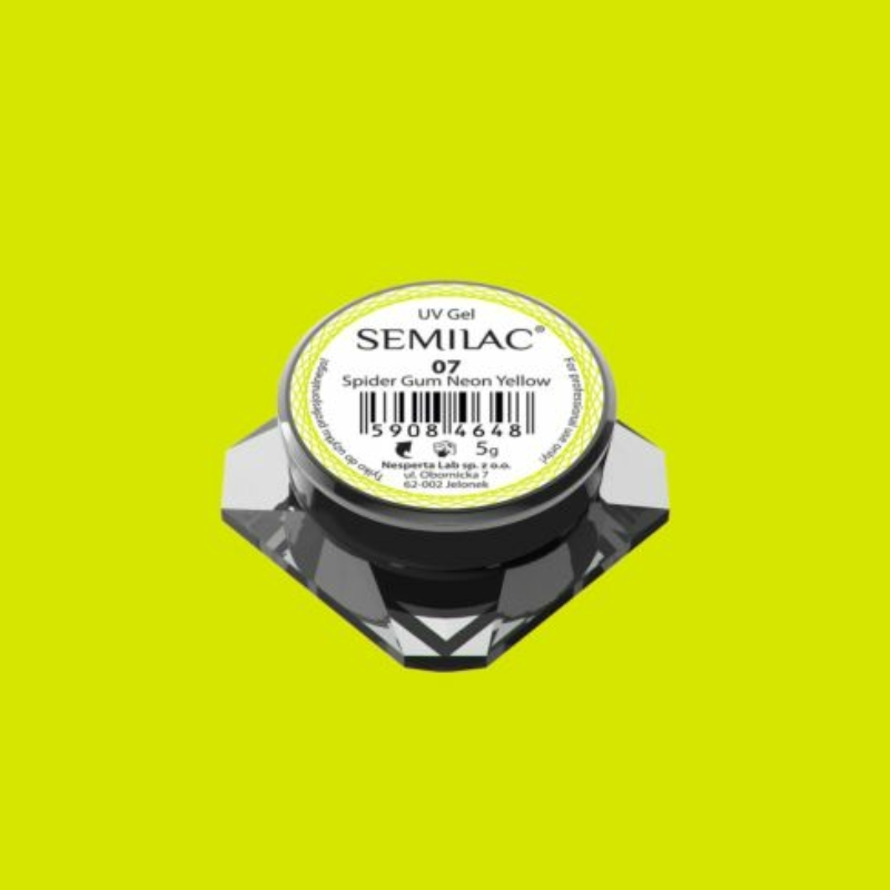 Semilac Spider gél - 07 Neon Yellow