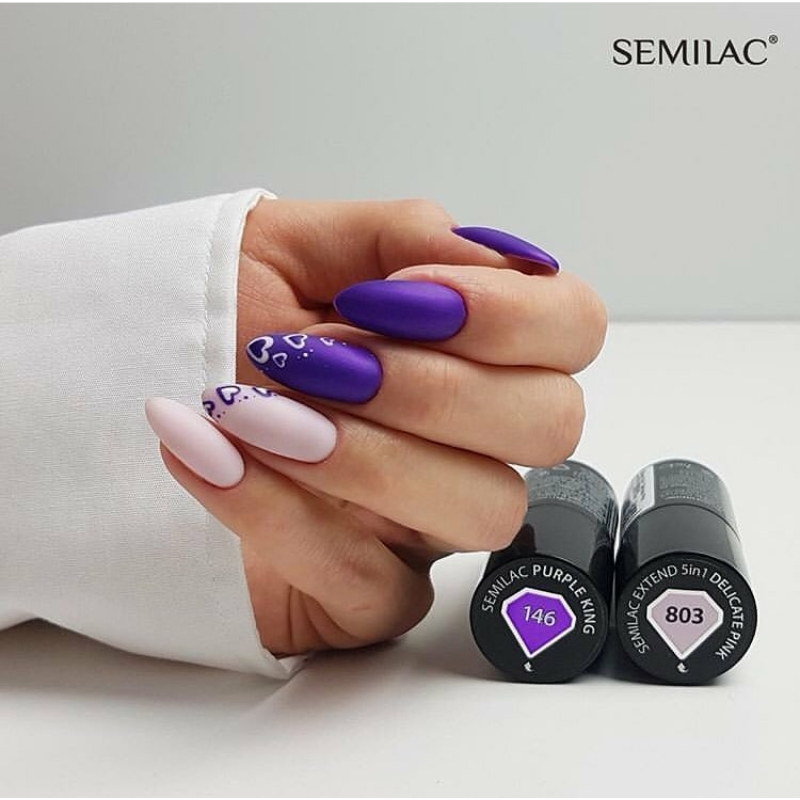 146 Semilac Uv Hybrid gél lakk Purple King 7ml