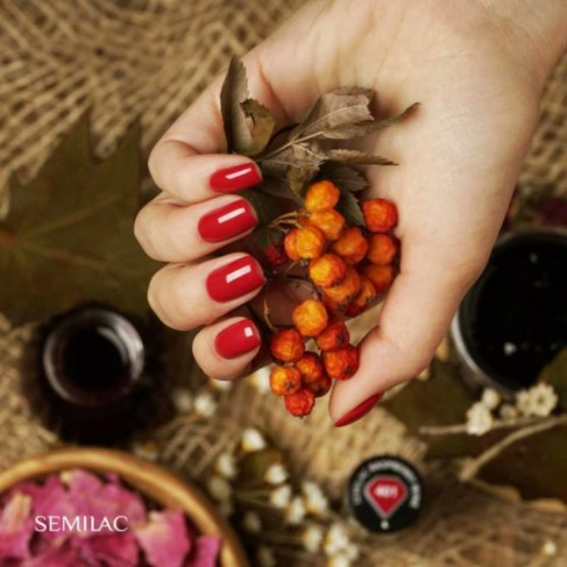 401 Semilac Uv Hybrid gél lakk - Raspberry Wine 7ml