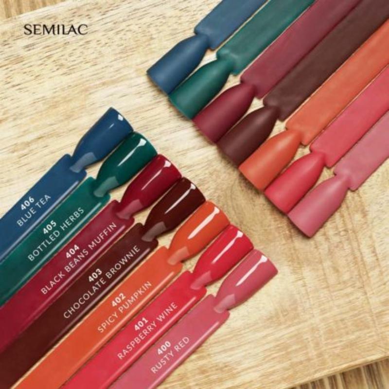 404 Semilac Uv Hybrid gél lakk - Black Beans Muffin 7ml