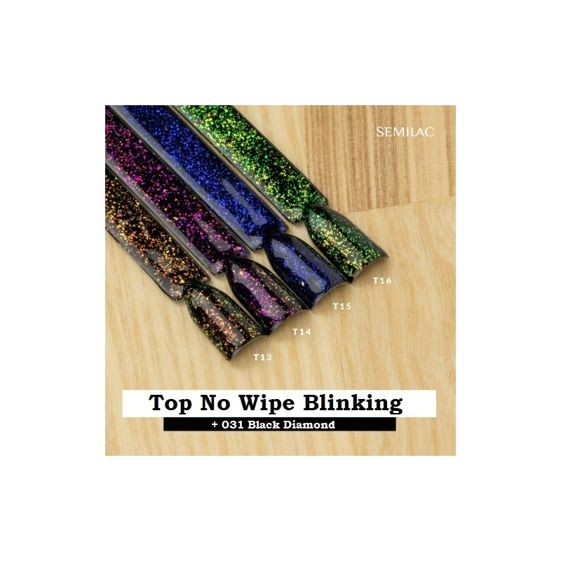 T13 - Top No Wipe Blinking Copper & Gold Flakes 7ml