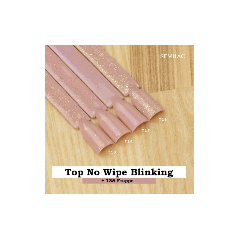 T16 Top No Wipe Blinking Gold & Green Flakes 7ml