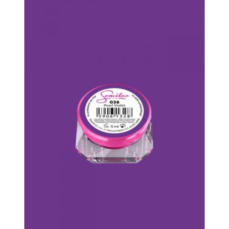 036 Színes Uv Zselé Pearl Violet 5ml