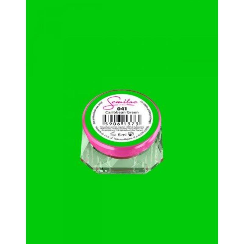 041 Színes Uv Zselé Semilac Caribbean Green 5ml