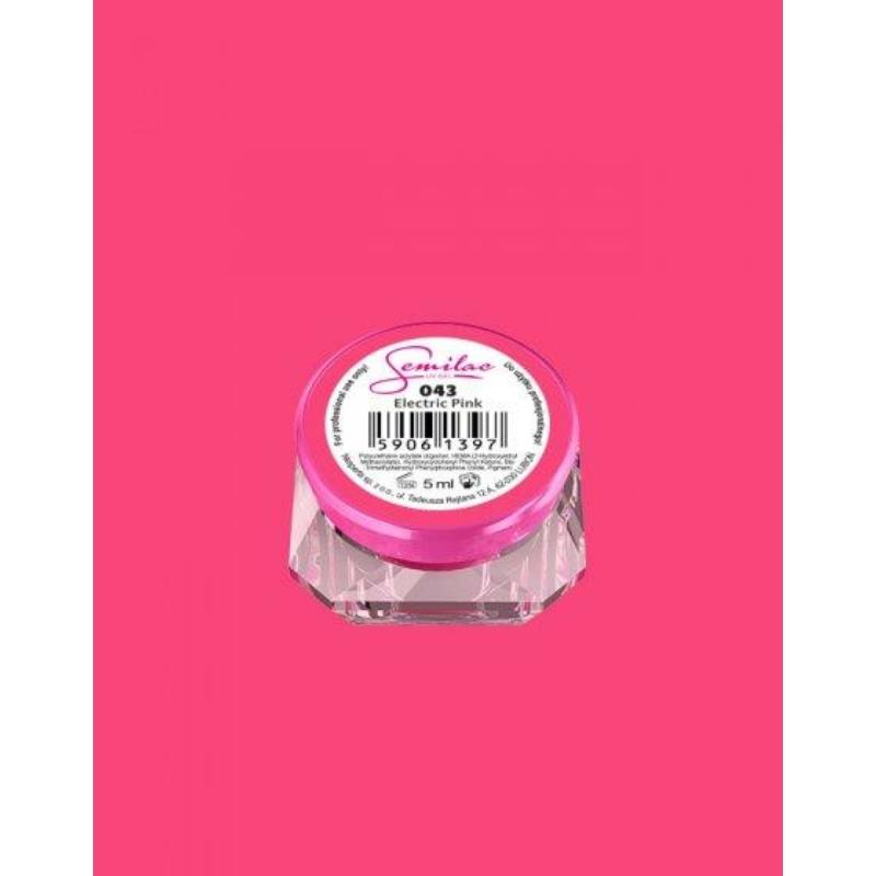 043 Színes Uv Zselé Semilac Electric Pink 5ml