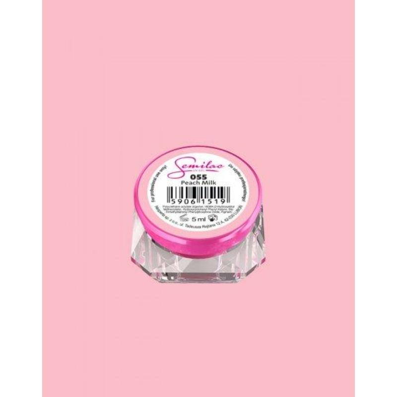 055 Színes Uv Zselé Semilac Peach Milk 5ml