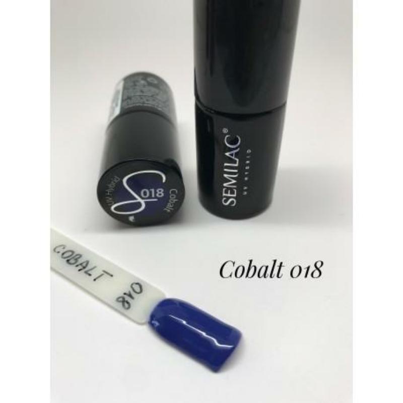 018 Semilac Uv Hybrid gél lakk Cobalt 7ml