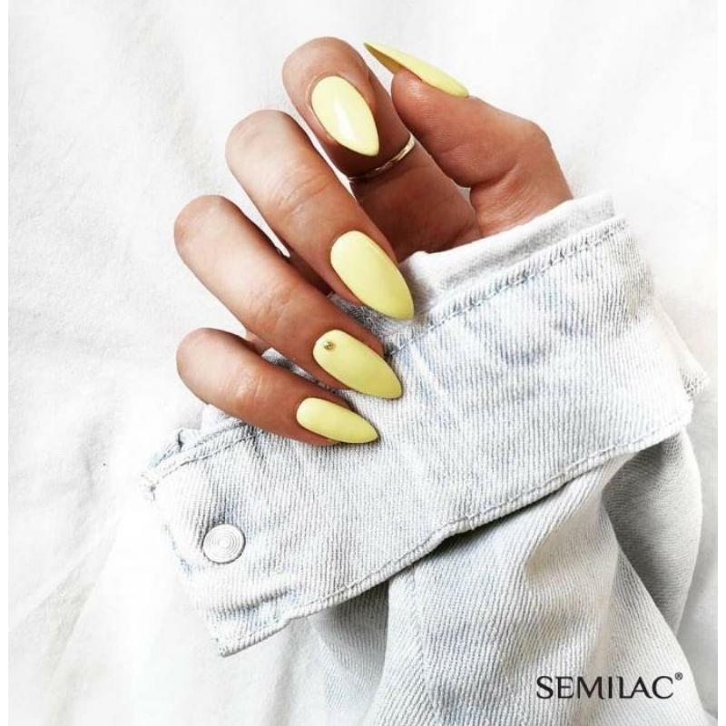 023 Semilac Uv Hybrid gél lakk Banana7ml
