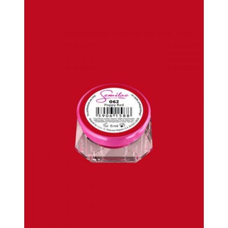 062 Színes Uv Zselé Semilac Poppy Red 5ml
