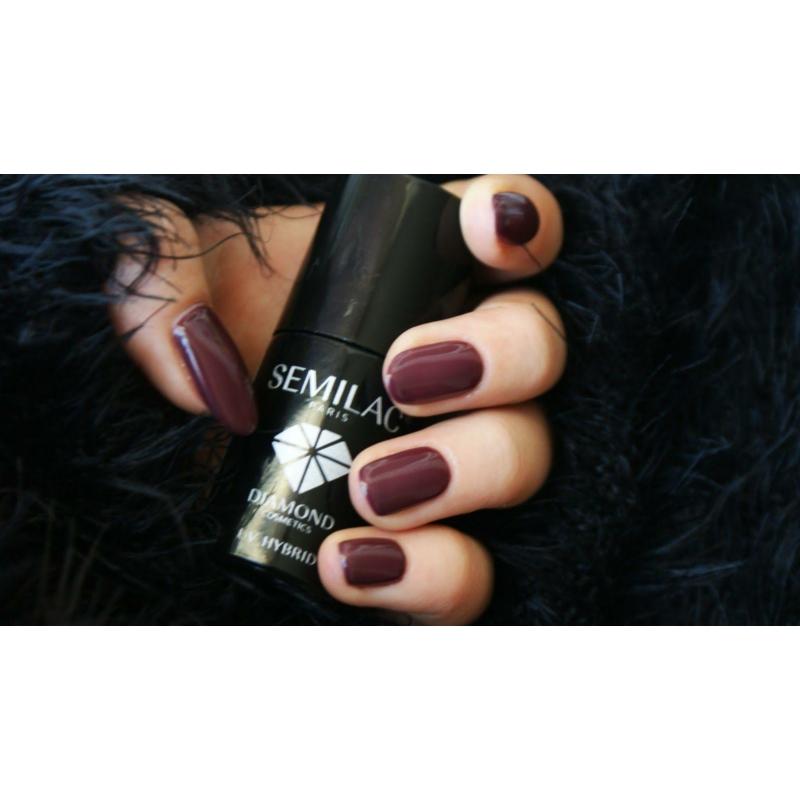 030 Semilac Uv Hybrid gél lakk Dark Chocolate 7ml