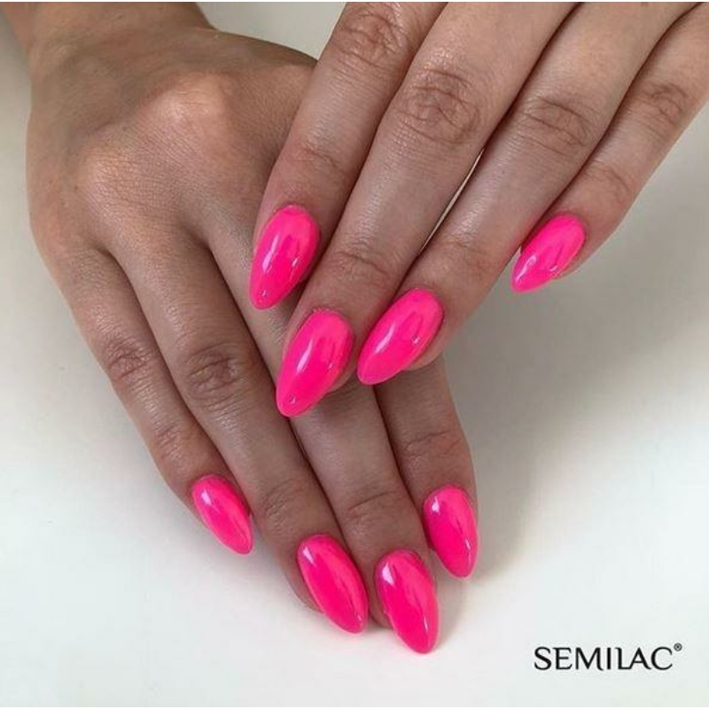 043 Semilac Uv Hybrid gél lakk Electric Pink 7ml