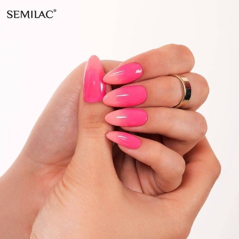 046 Semilac Uv Hybrid gél lakk Semilac Intense Pink 7ml