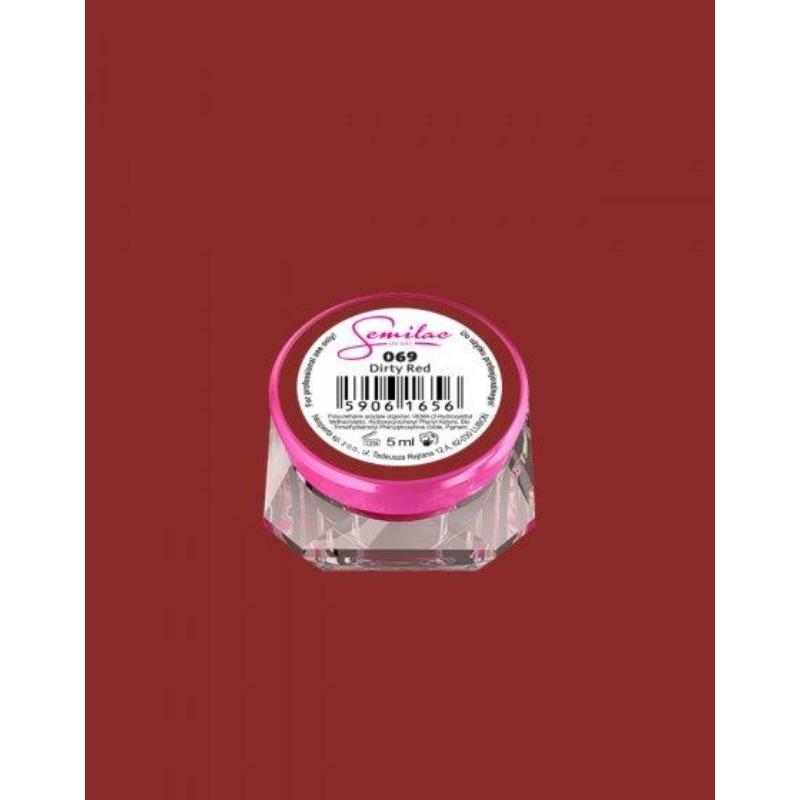069 Színes Uv Zselé Semilac Dirty Red 5ml