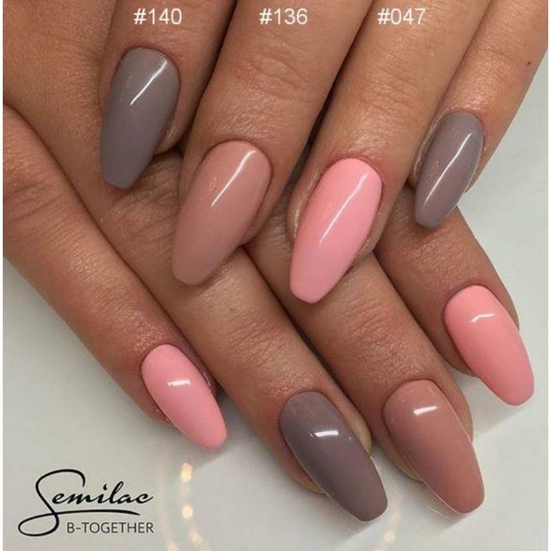 047 Színes Uv Zselé Semilac Pink Peach 5ml