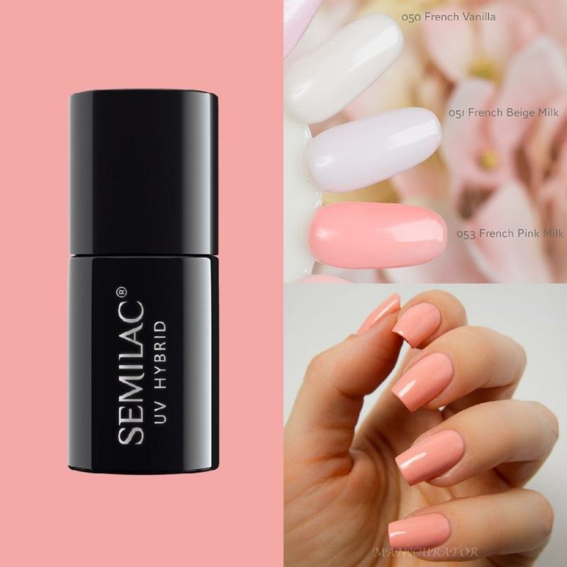 053 Semilac Uv Hybrid gél lakk French Pink Milk 7ml
