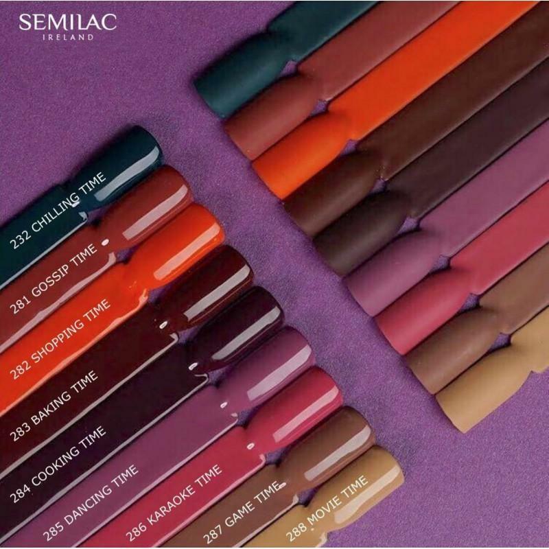 281 Semilac Uv Hybrid gél lakk Lets Meet - Gossip Time 7ml