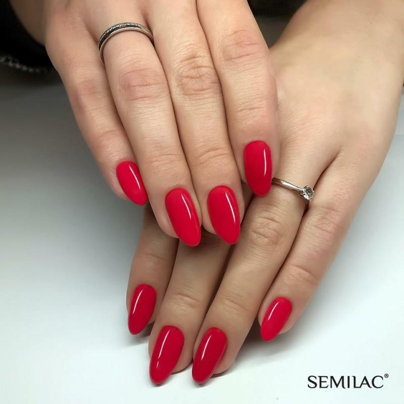 066 Semilac Uv Hybrid gél lakk Glossy Cranberry 7ml