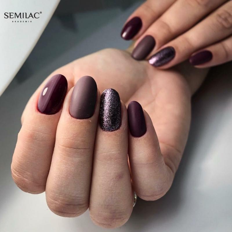 075 Színes UV Zselé Semilac Stylish Brown 5ml