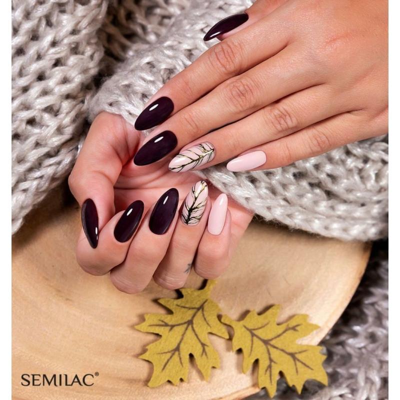 076 Semilac Uv Hybrid gél lakk Black Coffee 7ml