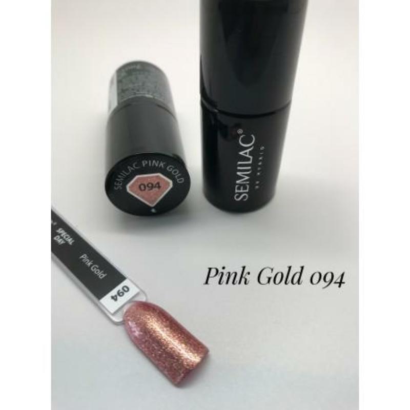 094 Semilac Uv Hybrid gél lakk Pink Gold 7m