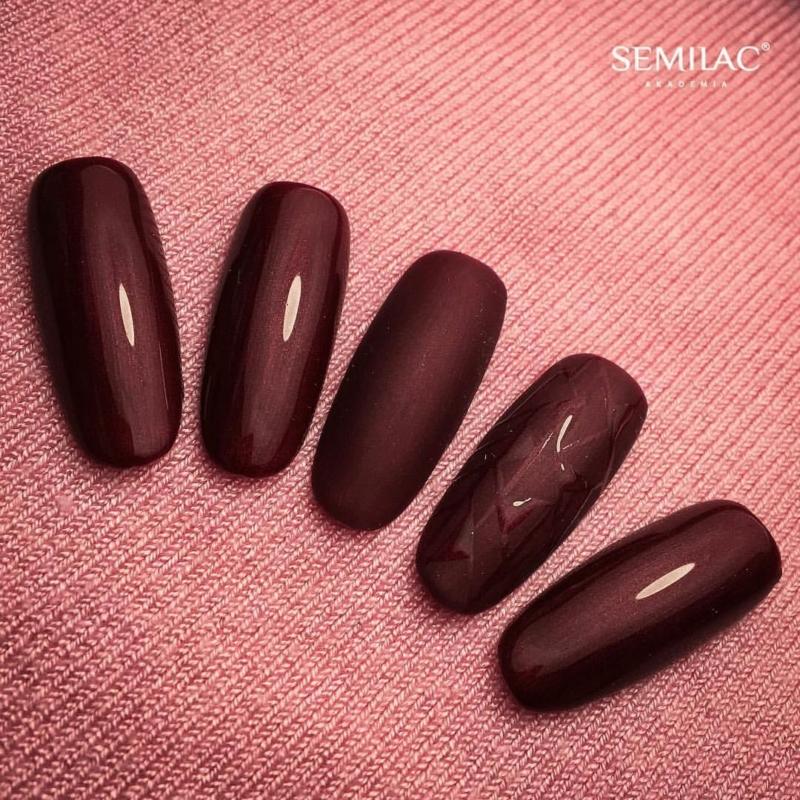 098 Semilac Uv Hybrid gél lakk Elegant Cherry 7ml