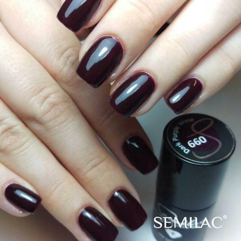 099 Színes Uv Zselé Semilac Dark Purple Wine 5ml