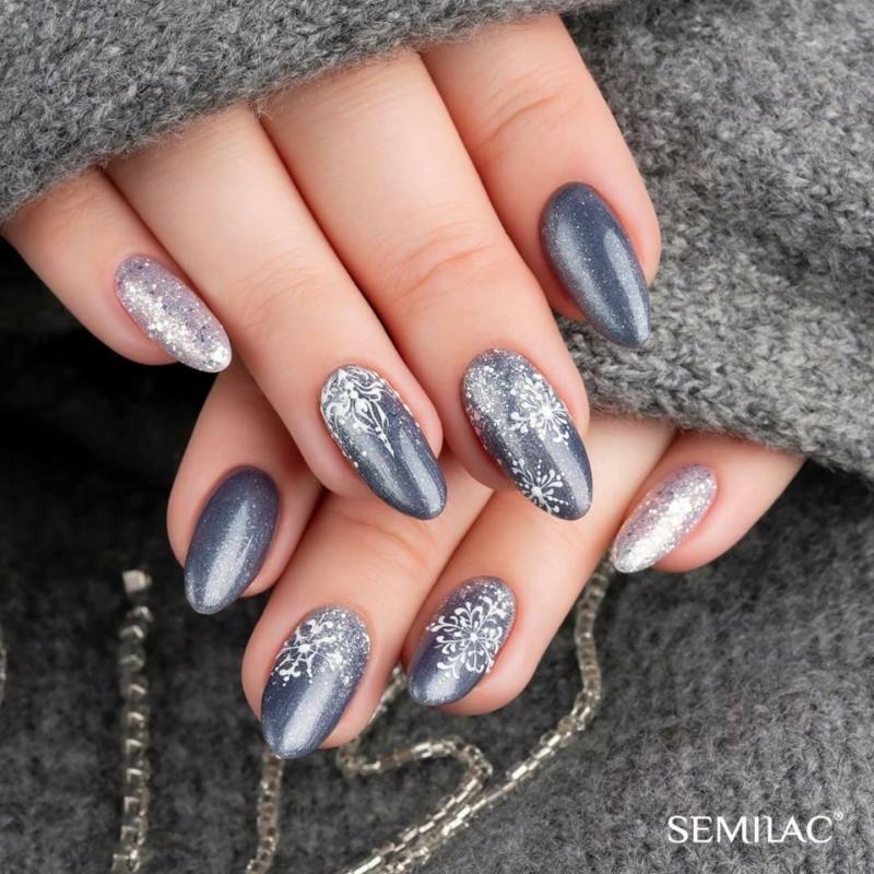 107 Színes Uv Zselé Semilac Steel Grey 5ml