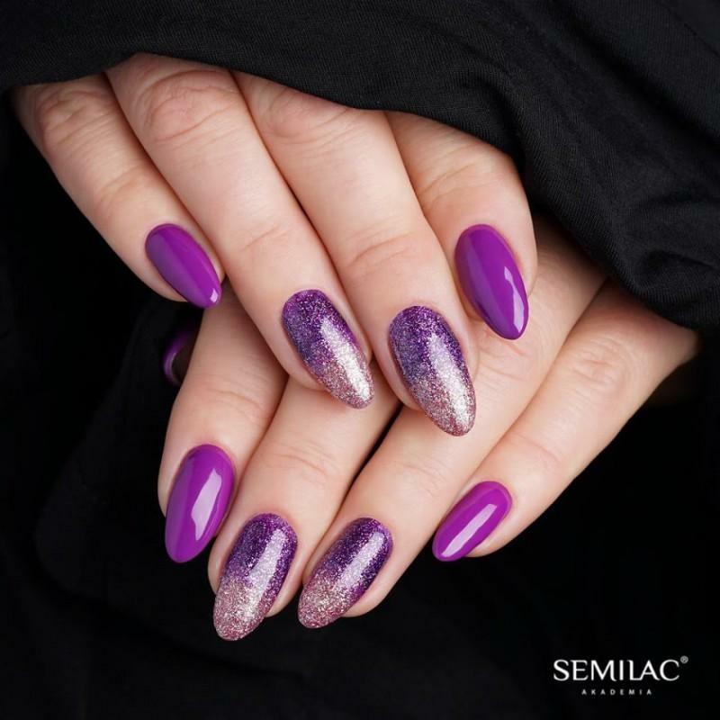 129 Semilac Uv Hybrid gél lakk Violet Bliss 7ml