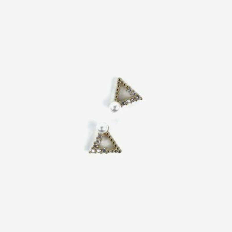 784 Semilac Körömdísz - Gold Triangles 2db