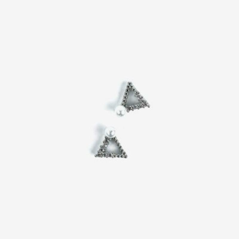 785 Semilac Körömdísz - Silver Triangles 2db