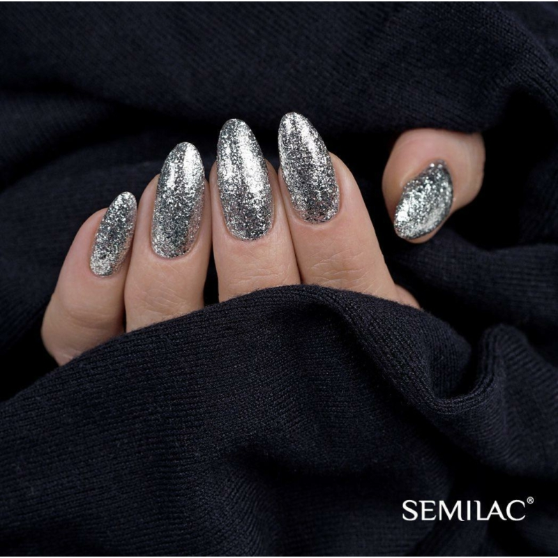 292 Semilac Uv Hybrid gél lakk - Silver Shimmer 7ml
