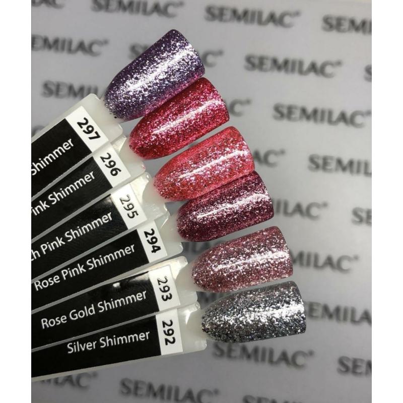 294 Semilac Uv Hybrid gél lakk - Rose Pink Shimmer 7ml