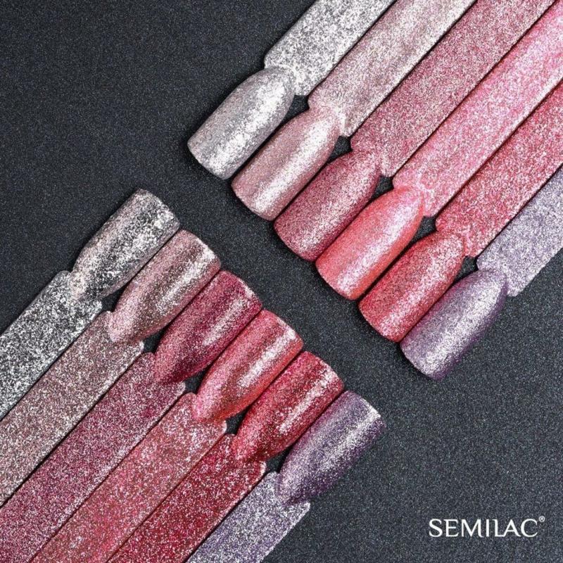 295 Semilac Uv Hybrid gél lakk - Peach Pink Shimmer  7ml