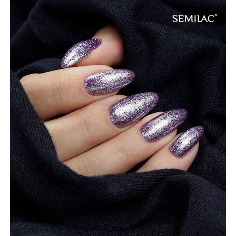 297 Semily Uv Hybrid gél lakk - Violet Shimmer 7ml