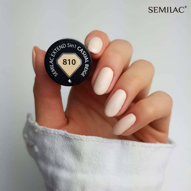 810 Semilac Extend 5in1 - Casual Beige  7ml