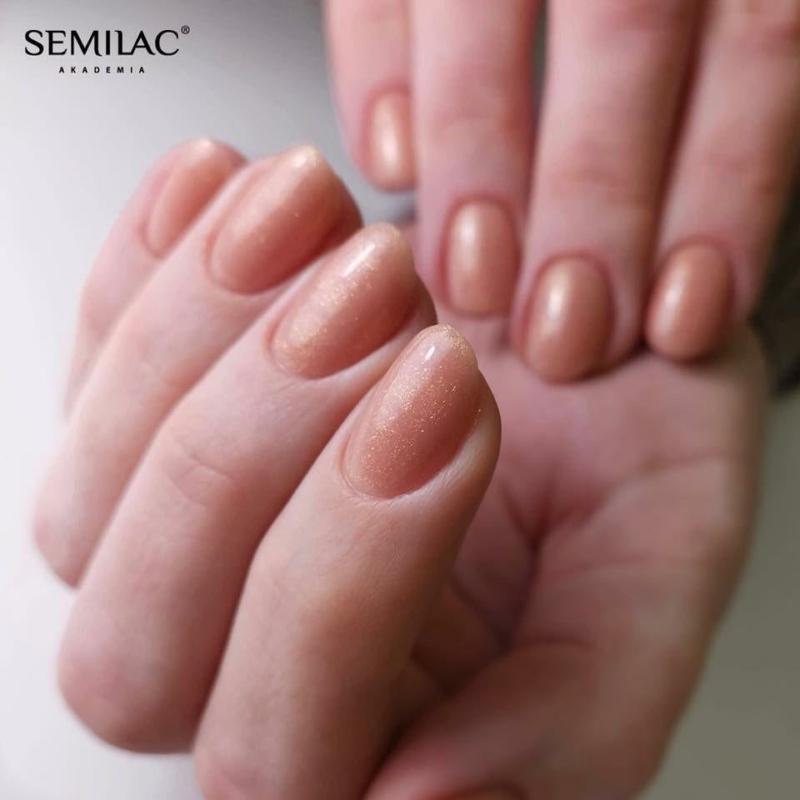 804 Semilac Extend 5in1 - Glitter Soft Beige  7ml