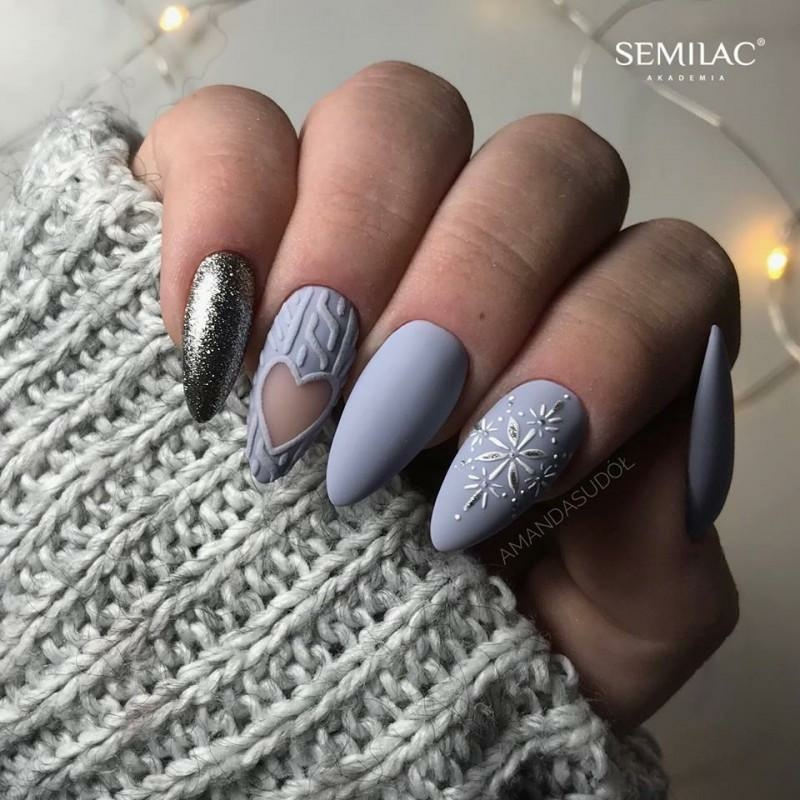 227 Semilac Uv Hybrid gél lakk All In My Hands - Light Violet  7ml