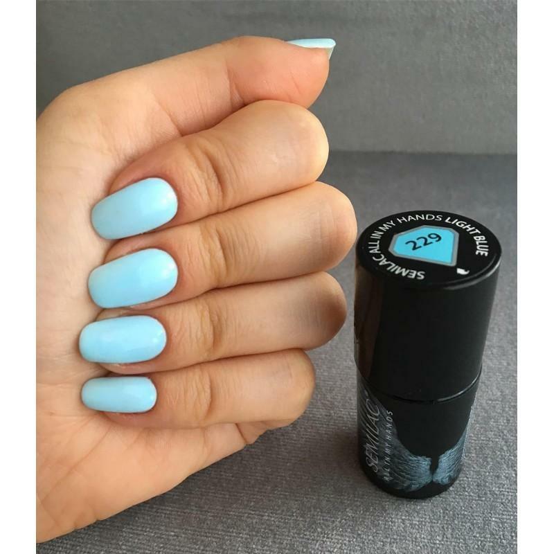 229 Semilac Uv Hybrid gél lakk All In My Hands - Light Blue  7ml