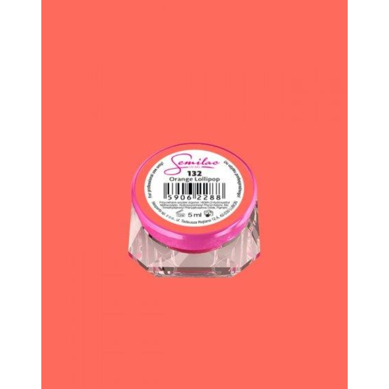 132 Színes Uv Zselé Semilac Orange Lollipop 5ml
