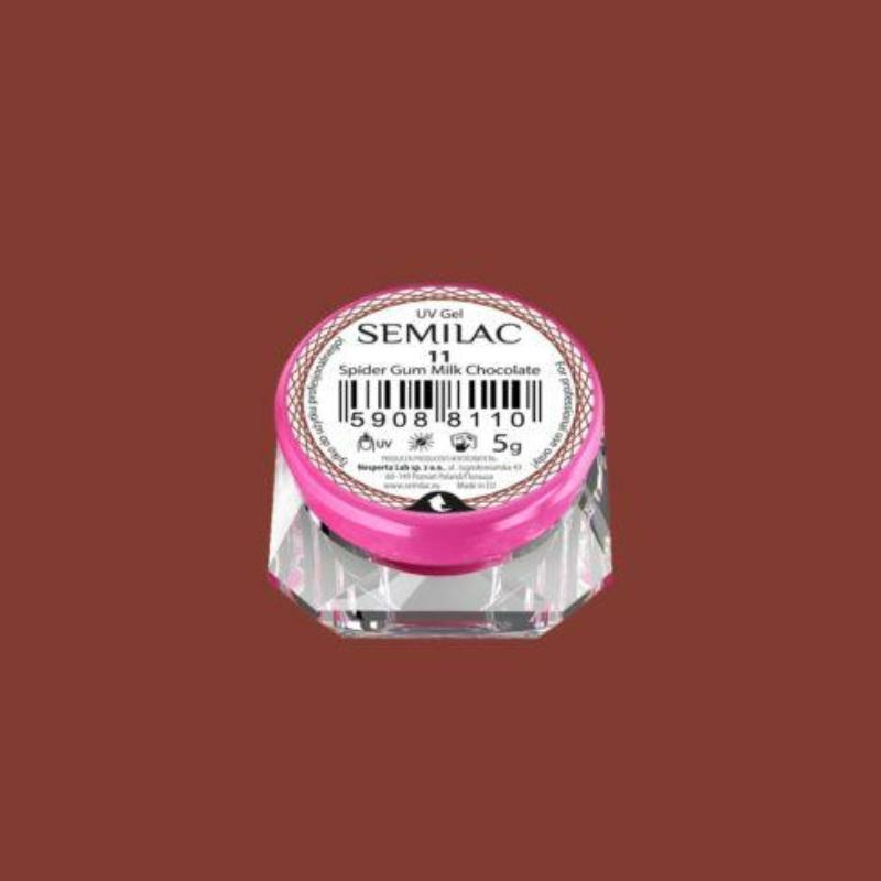 Semilac Spider gél - 11 Milk Chocolate