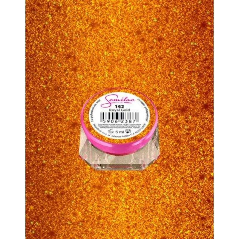 142 Színes Uv Zselé Semilac Royal Gold 5ml