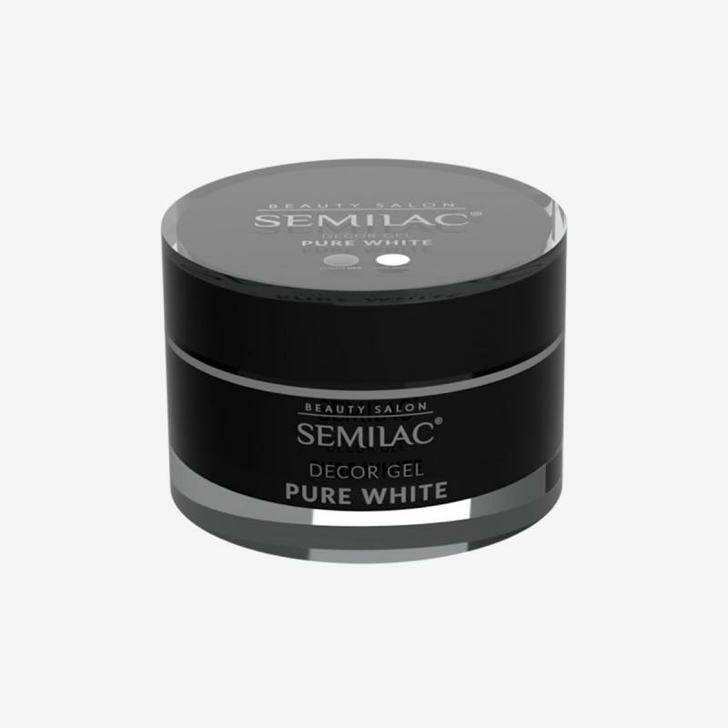 Semilac decor gel - Pure White  15ml