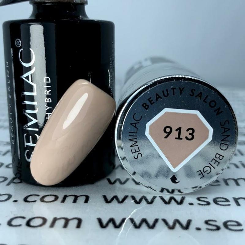 913 Semilac Uv Hybrid gél lakk - Sand Beige  7ml