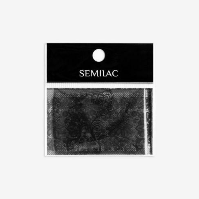 Semilac Transzfer fólia - Fekete csipke